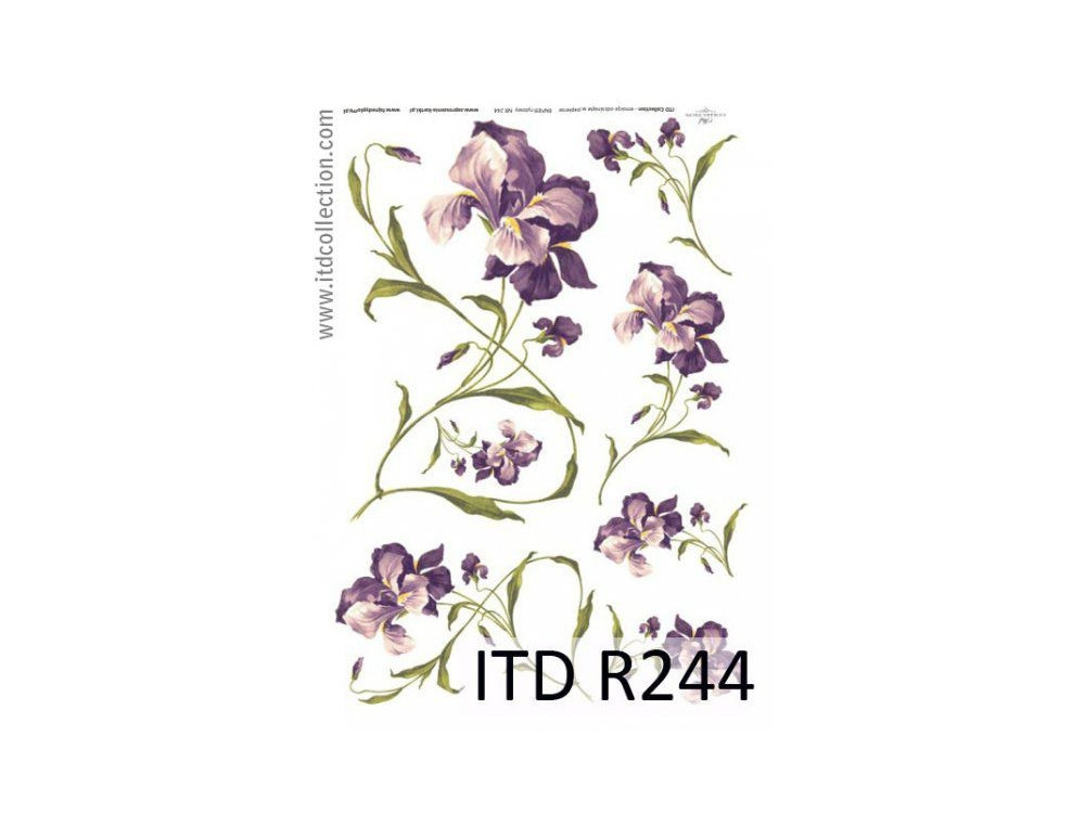 Decoupage paper A4 - ITD Collection - rice, R244