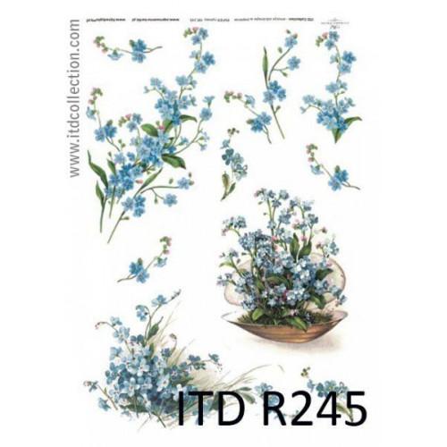 Papier ryżowy decoupage ITD R245