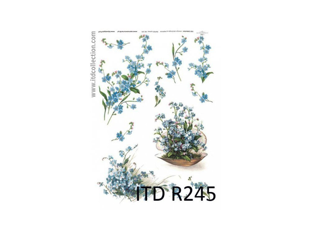 Decoupage paper A4 - ITD Collection - rice, R245