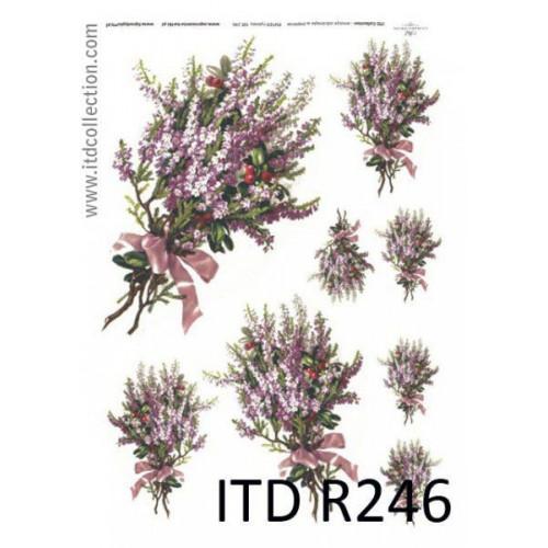 Papier ryżowy decoupage ITD R246