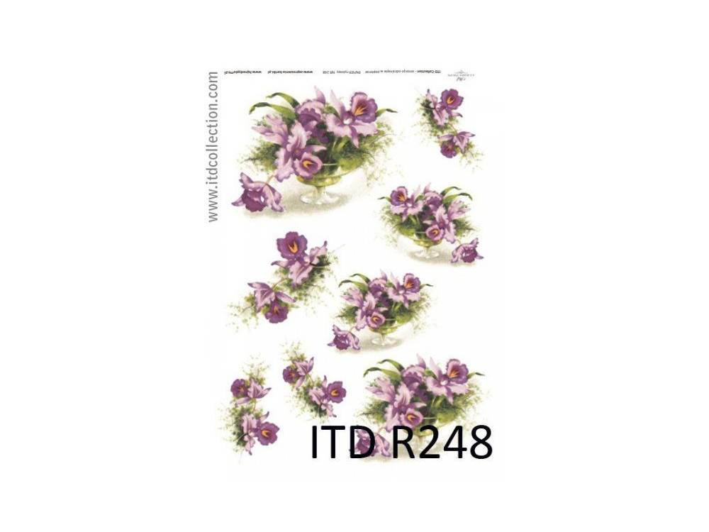 Papier do decoupage A4 - ITD Collection - ryżowy, R248