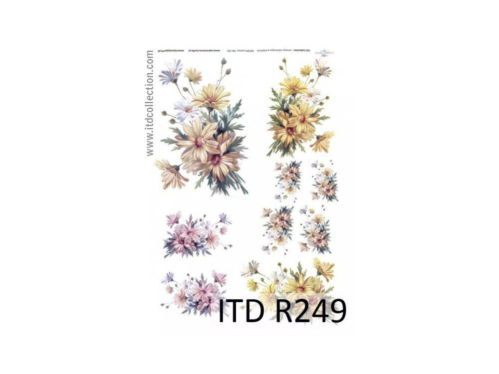 Decoupage paper A4 - ITD Collection - rice, R249