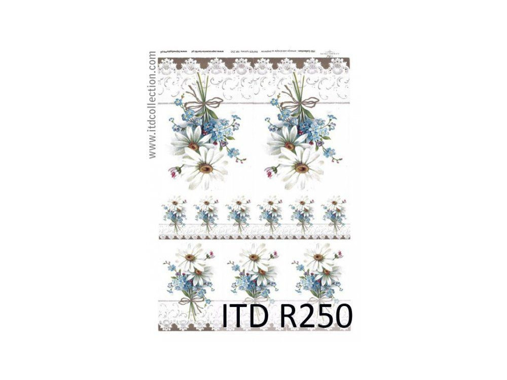 Papier do decoupage A4 - ITD Collection - ryżowy, R250