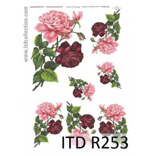 Papier ryżowy decoupage ITD R253