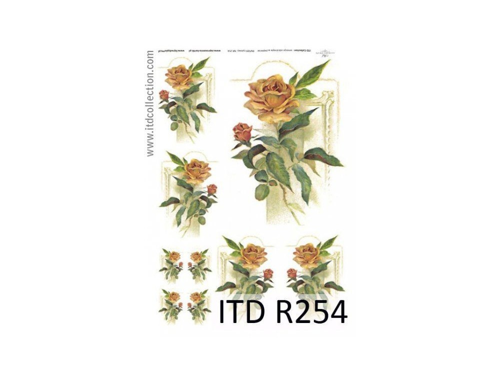 Decoupage paper A4 - ITD Collection - rice, R254