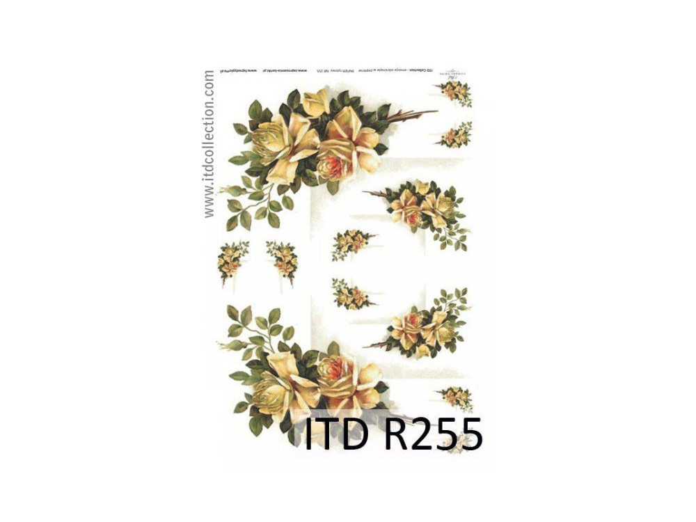 Decoupage paper A4 - ITD Collection - rice, R255