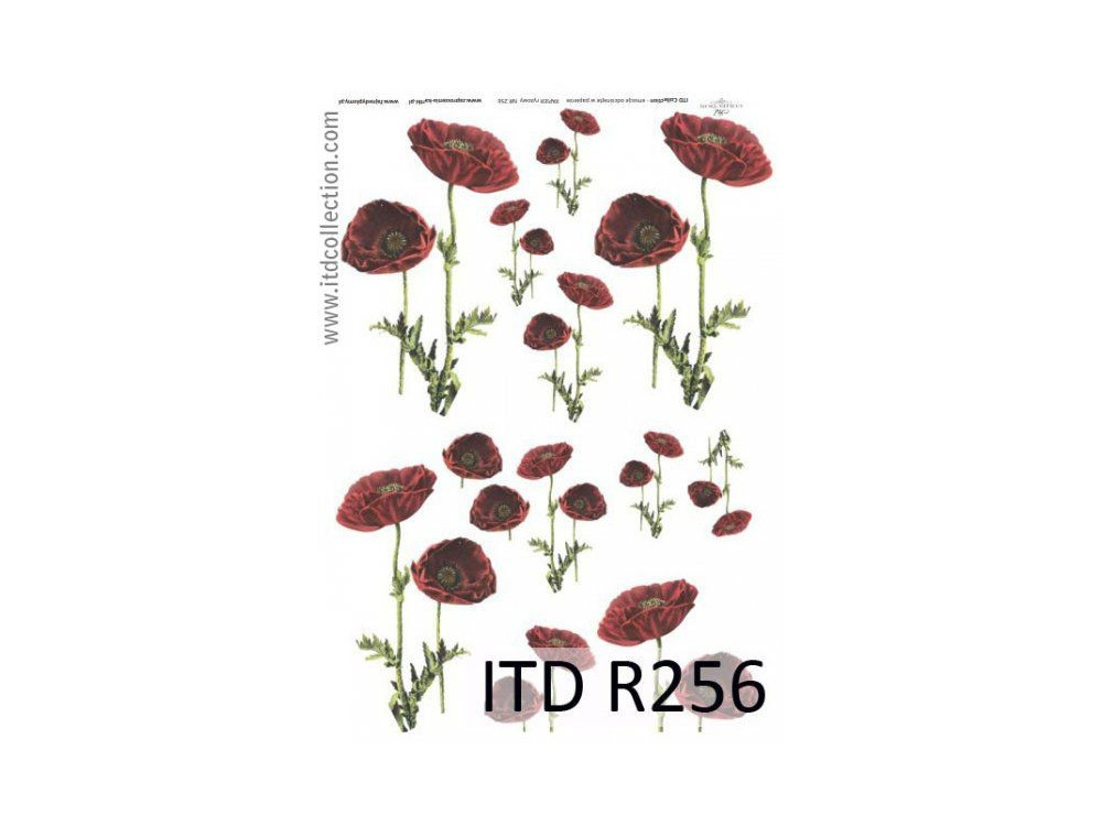 Decoupage paper A4 - ITD Collection - rice, R256