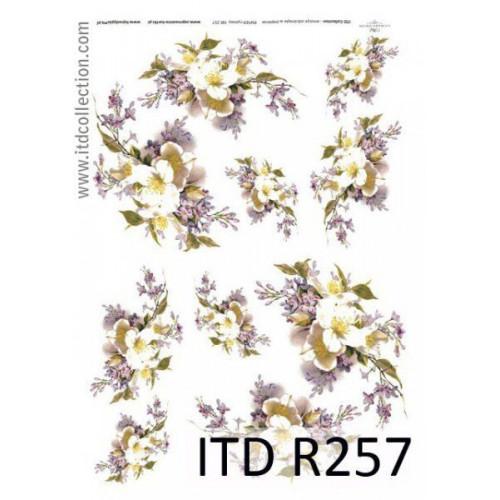 Papier ryżowy decoupage ITD R257