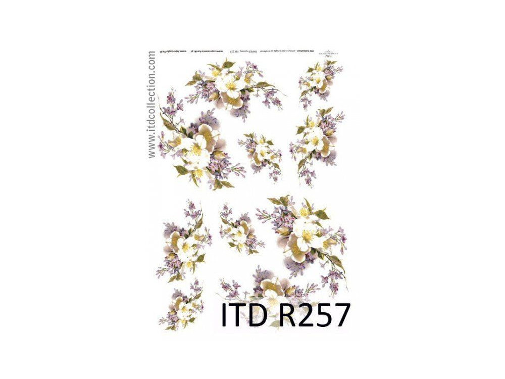Papier do decoupage A4 - ITD Collection - ryżowy, R257