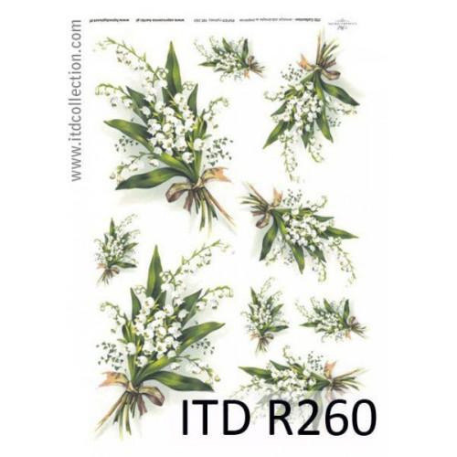 Papier ryżowy decoupage ITD R260