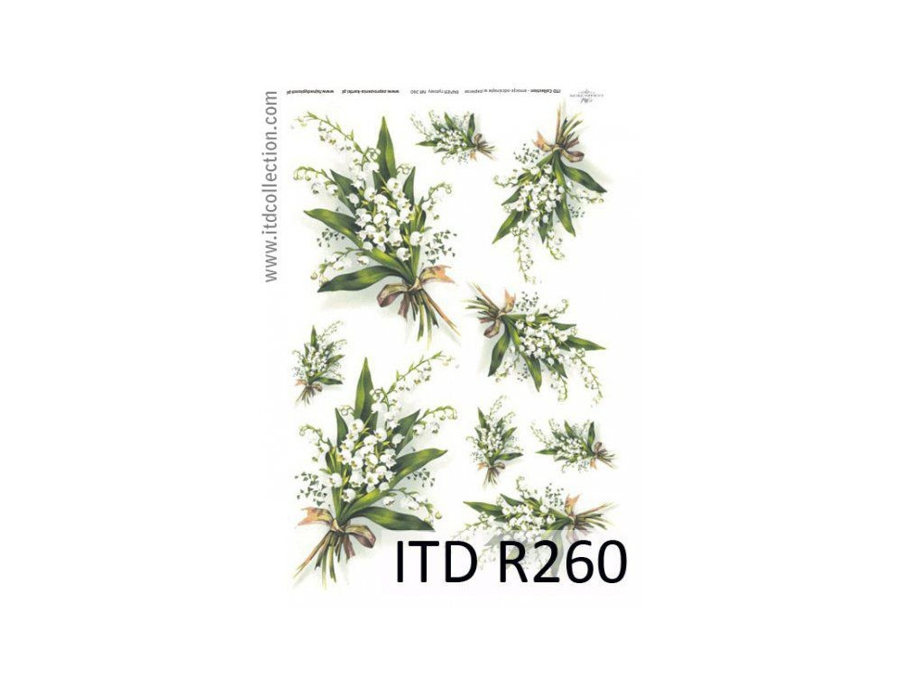 Decoupage paper A4 - ITD Collection - rice, R260