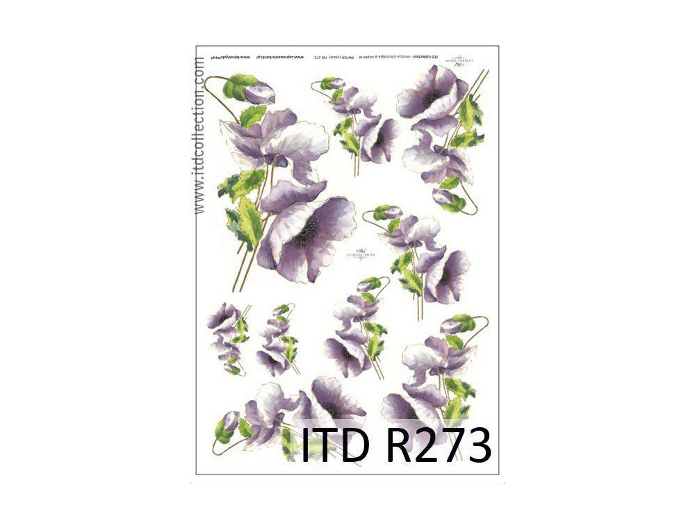 Papier do decoupage A4 - ITD Collection - ryżowy, R273