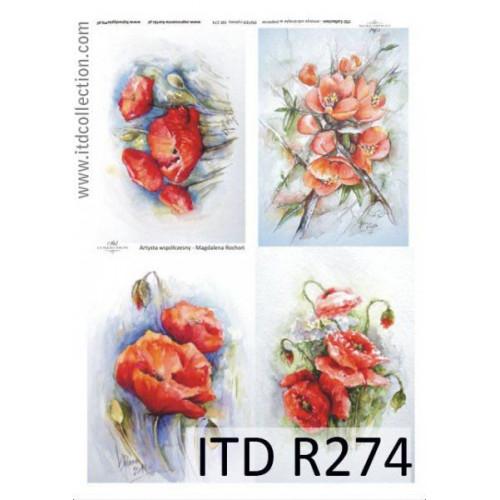 Papier ryżowy decoupage ITD R274
