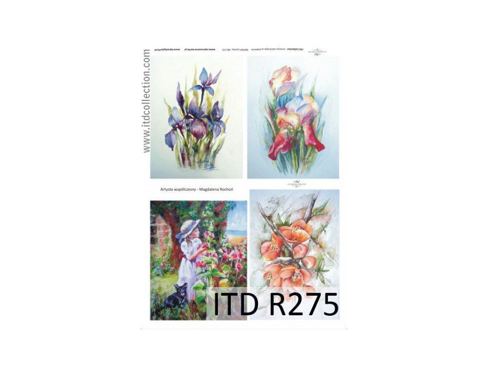 Decoupage paper A4 - ITD Collection - rice, R275