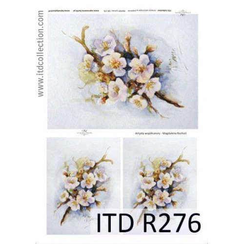 Papier ryżowy decoupage ITD R276