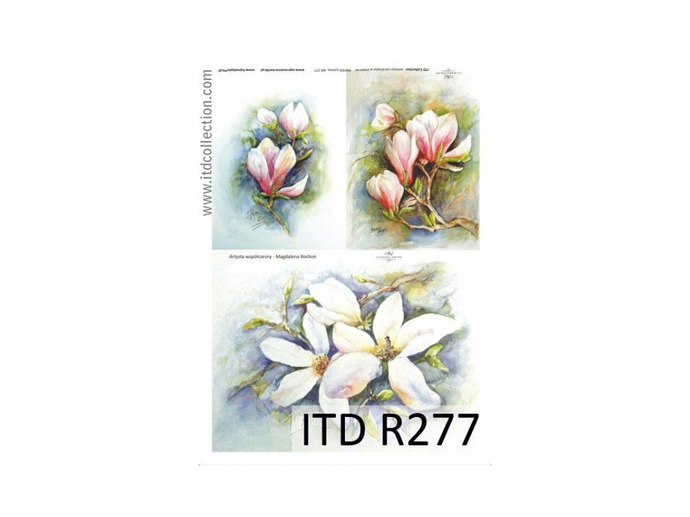 Papier do decoupage A4 - ITD Collection - ryżowy, R277