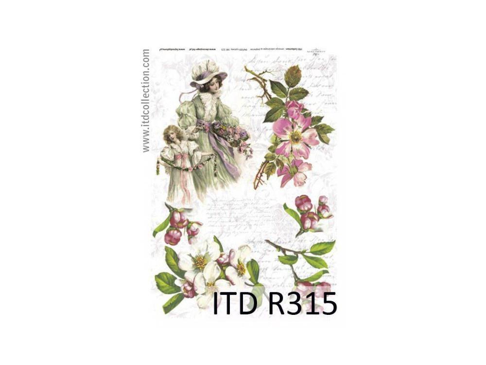 Papier ryżowy decoupage ITD R315