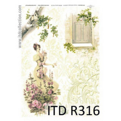 Decoupage paper A4 - ITD Collection - rice, R316