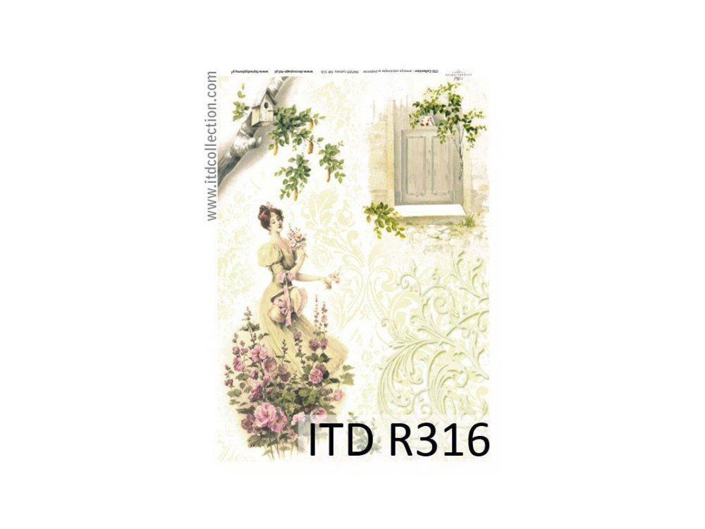 Papier do decoupage A4 - ITD Collection - ryżowy, R316