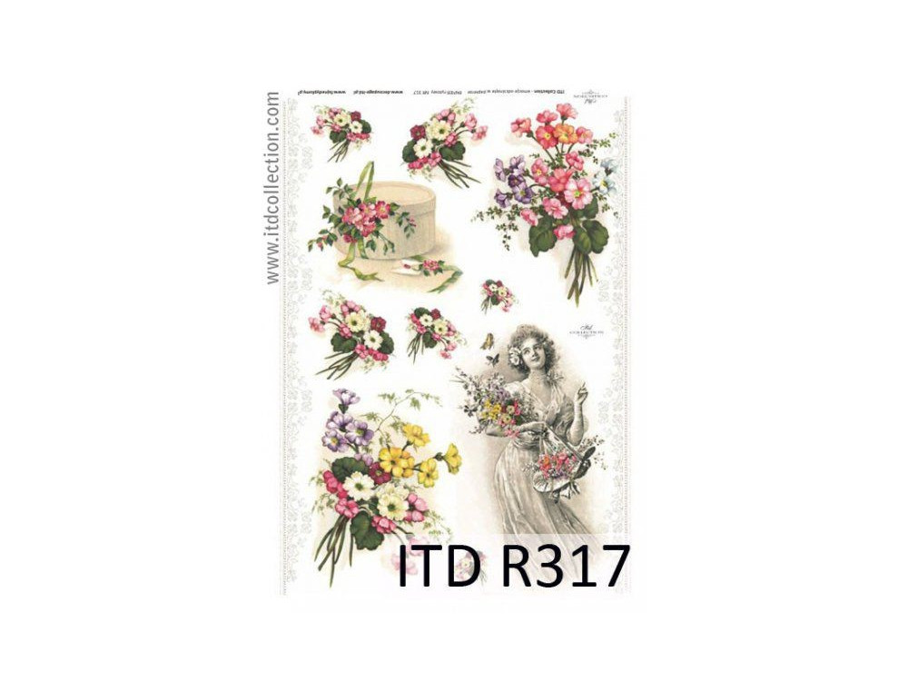 Papier do decoupage A4 - ITD Collection - ryżowy, R317