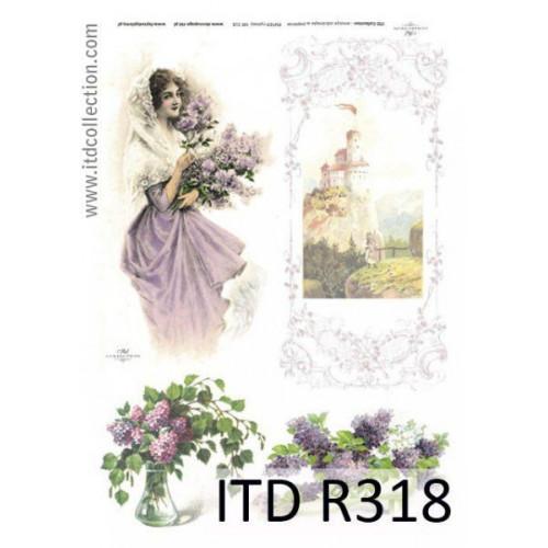 Papier ryżowy decoupage ITD R318
