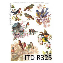 Decoupage paper A4 - ITD Collection - rice, R325