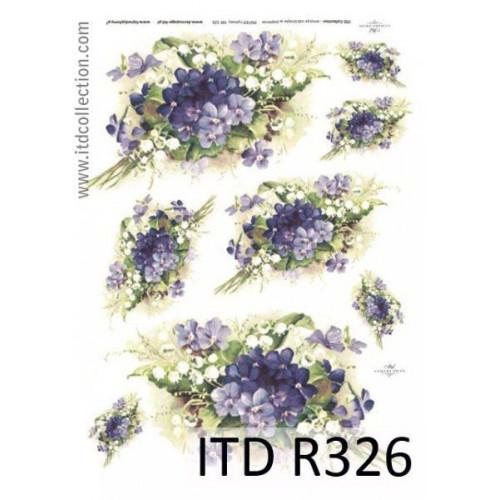 Papier ryżowy decoupage ITD R326