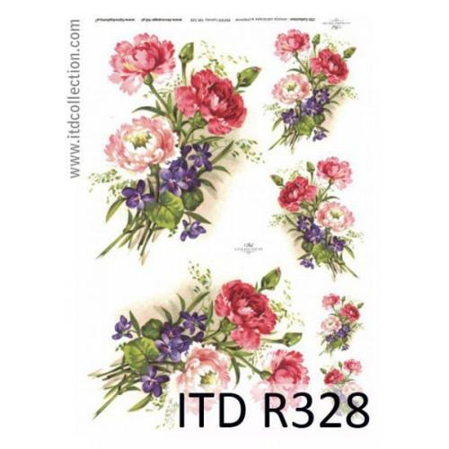 Papier ryżowy decoupage ITD R328