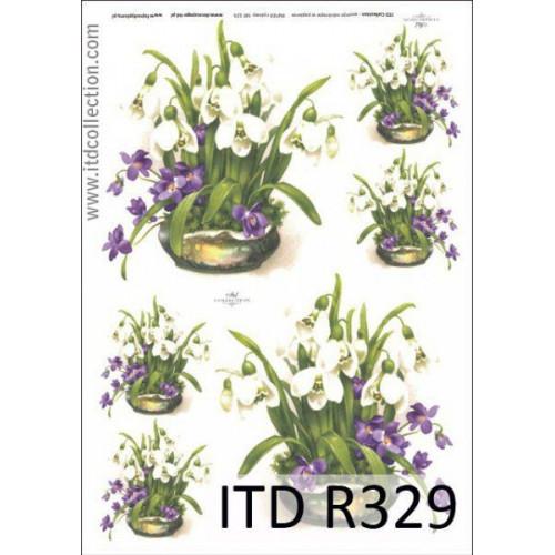 Papier ryżowy decoupage ITD R329