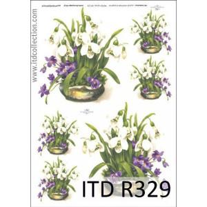 Papier ryżowy A4 decoupage R329