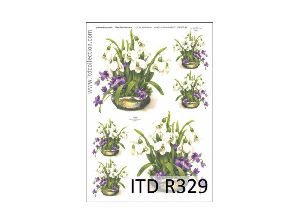 Decoupage paper A4 - ITD Collection - rice, R329