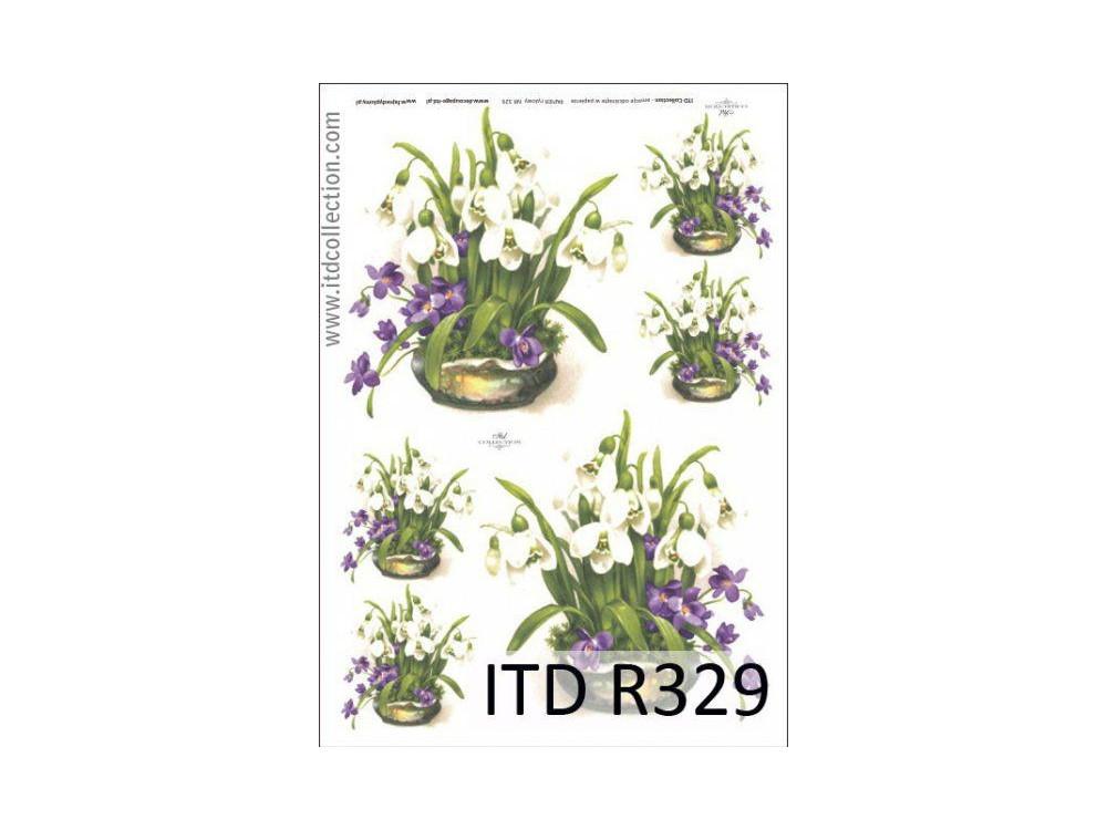 Decoupage Rice Paper ITD R329