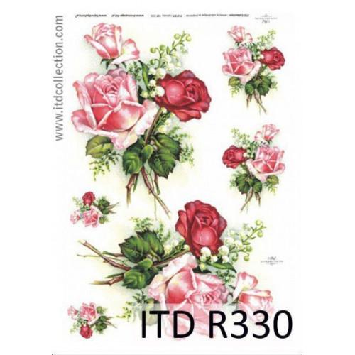 Papier ryżowy decoupage ITD R330