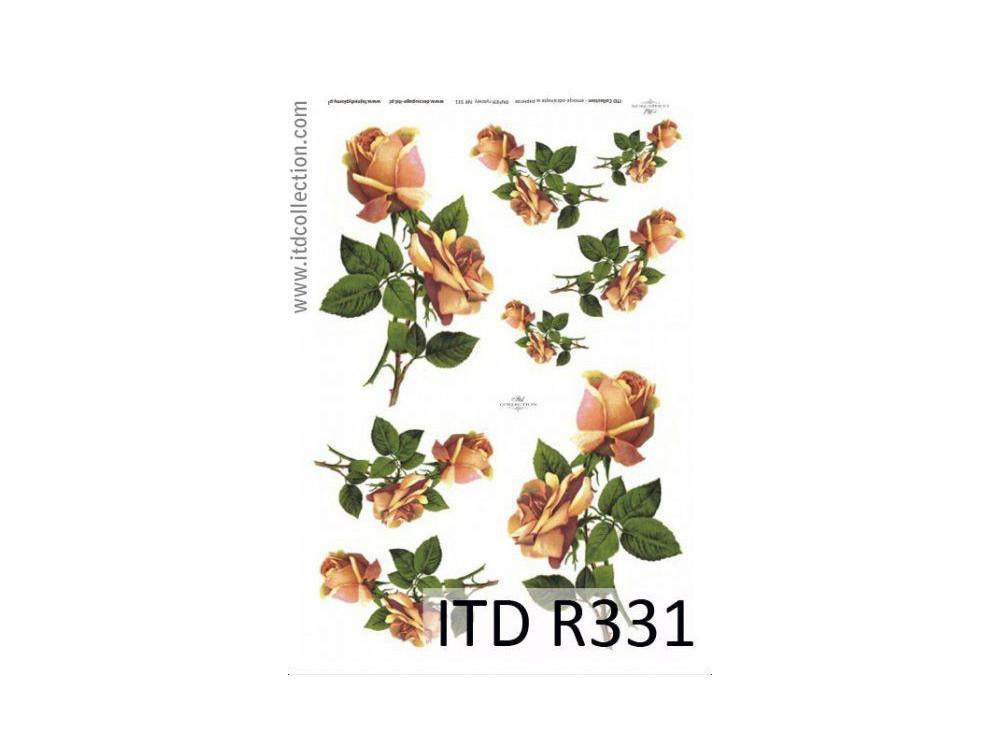 Papier ryżowy decoupage ITD R331