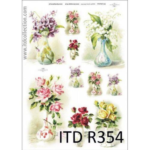 Papier ryżowy decoupage ITD R354