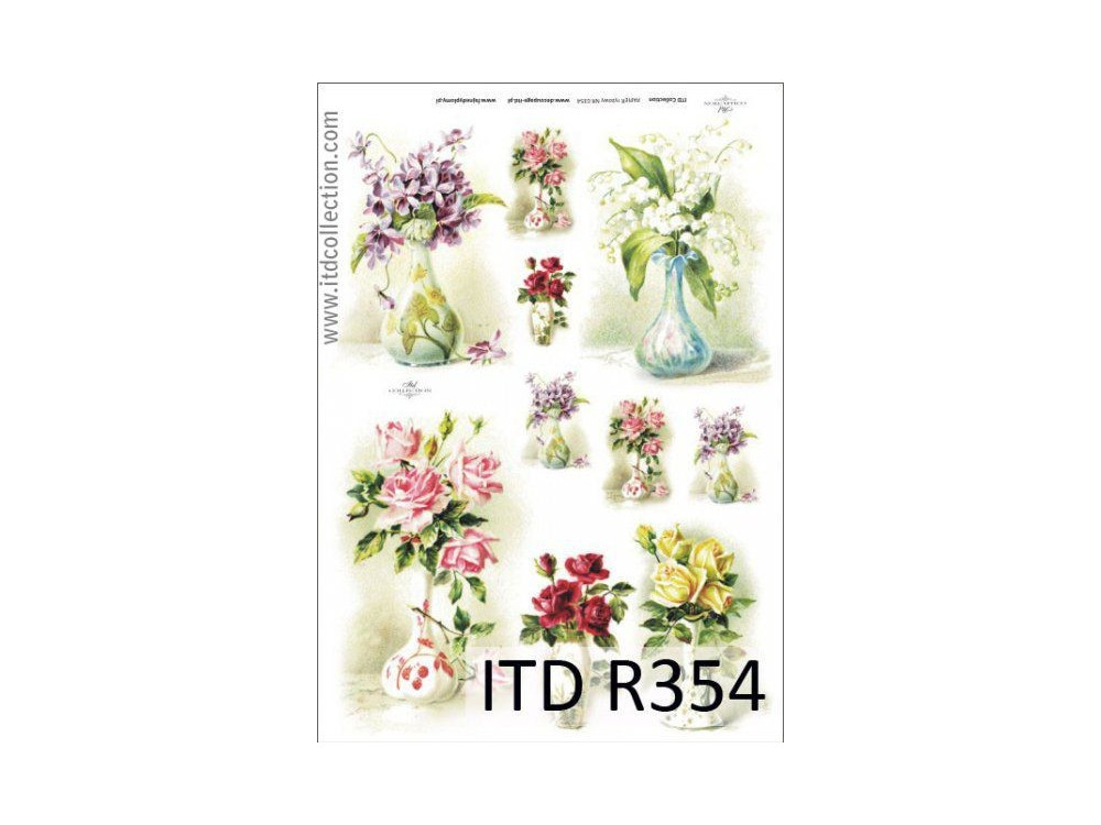 Decoupage paper A4 - ITD Collection - rice, R354