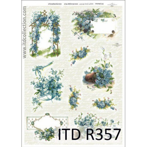 Papier ryżowy decoupage ITD R357