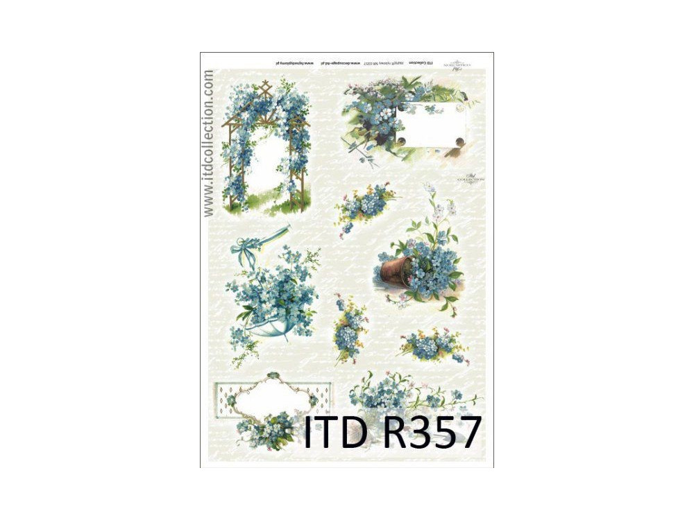 Decoupage paper A4 - ITD Collection - rice, R357