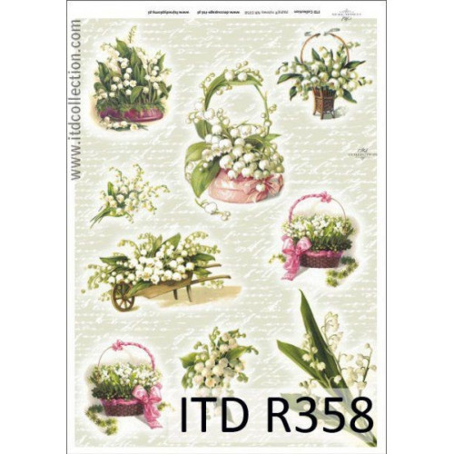Papier ryżowy decoupage ITD R358