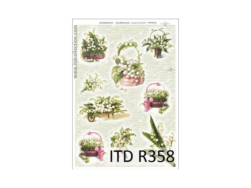 Decoupage Rice Paper ITD R358