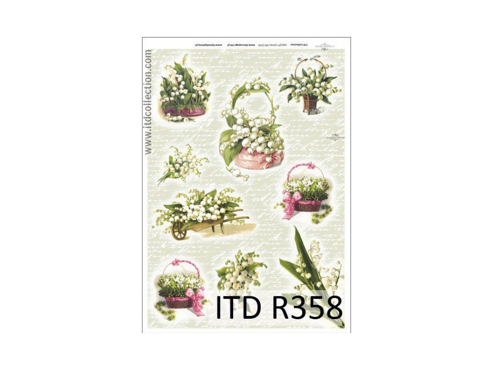 Papier do decoupage A4 - ITD Collection - ryżowy, R358