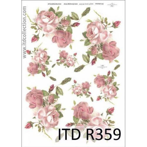 Papier ryżowy decoupage ITD R359