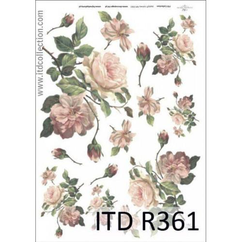 Papier ryżowy decoupage ITD R361