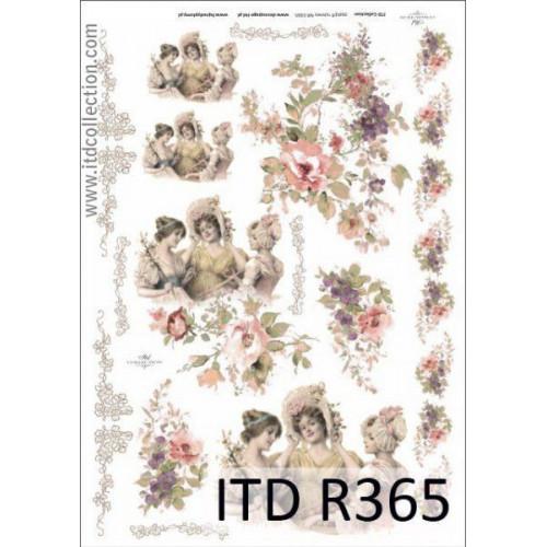 Papier ryżowy decoupage ITD R365