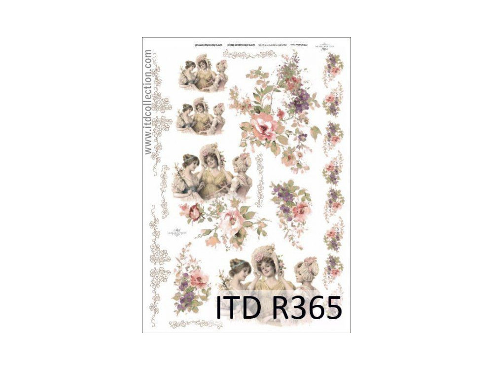 Papier do decoupage A4 - ITD Collection - ryżowy, R365