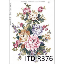 Papier do decoupage A4 - ITD Collection - ryżowy, R376