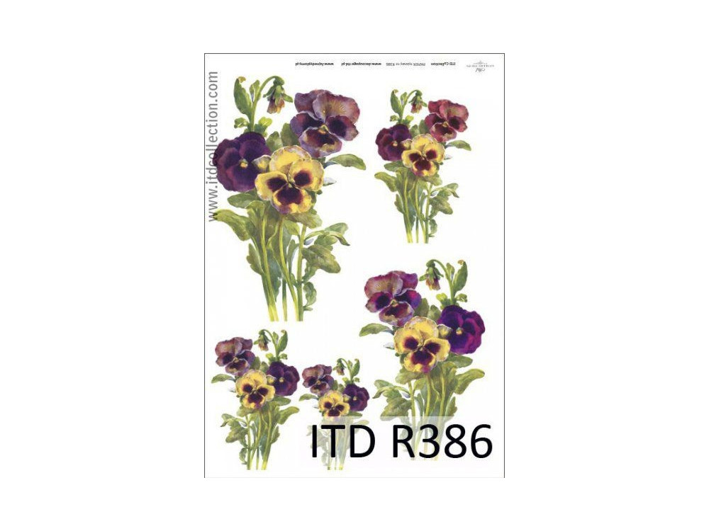Decoupage paper A4 - ITD Collection - rice, R386