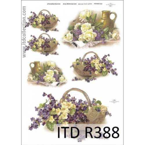 Papier ryżowy decoupage ITD R388
