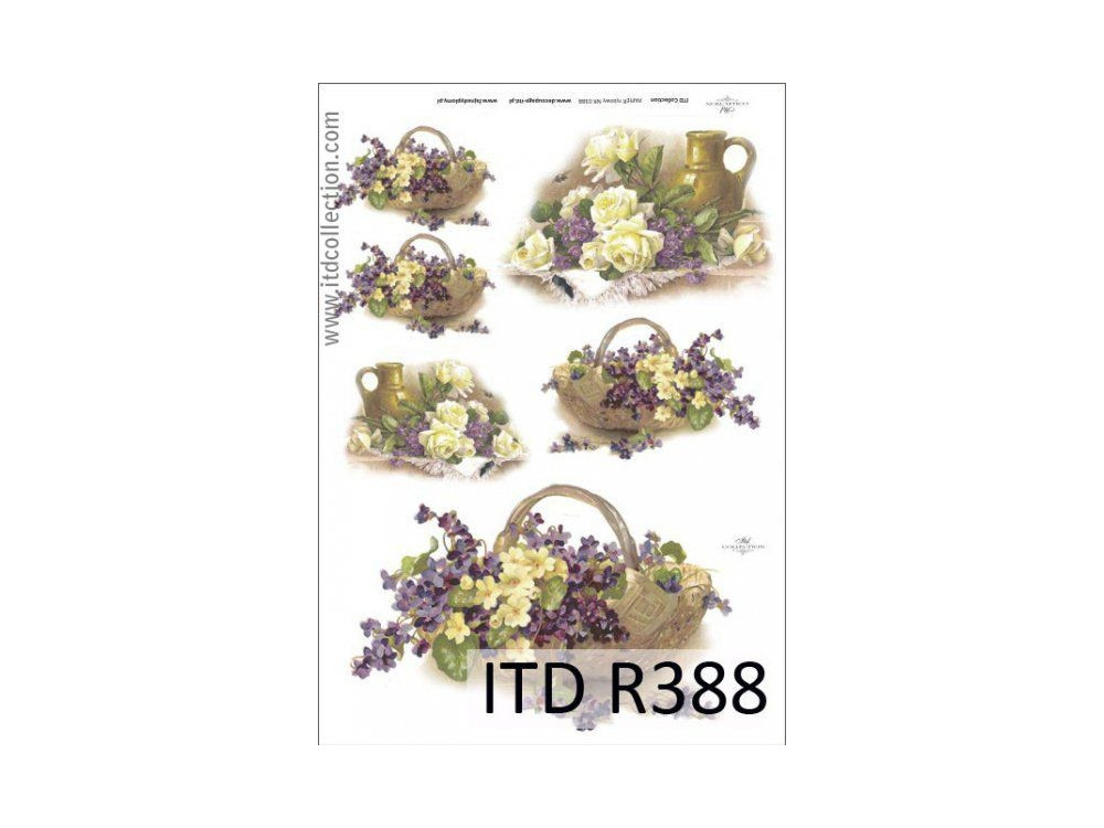 Decoupage paper A4 - ITD Collection - rice, R388
