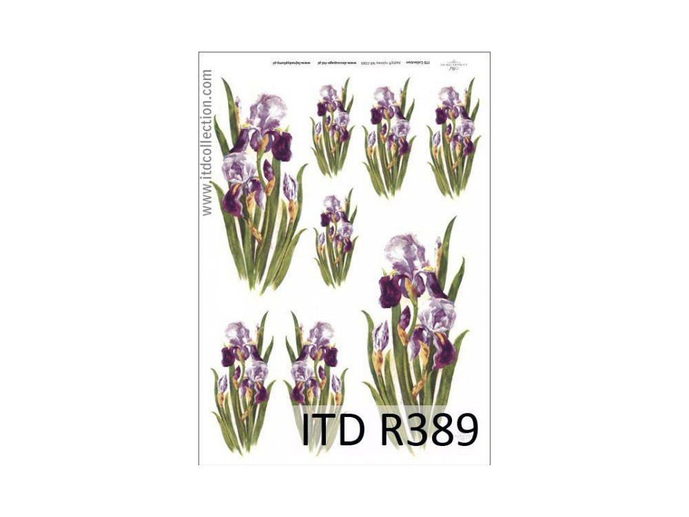 Papier do decoupage A4 - ITD Collection - ryżowy, R389